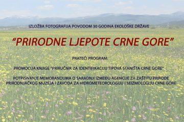 """Izložba fotografija """"Prirodne ljepote Crne Gore"""""""
